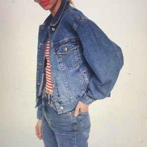 New Boxy Crop Denim Jacket